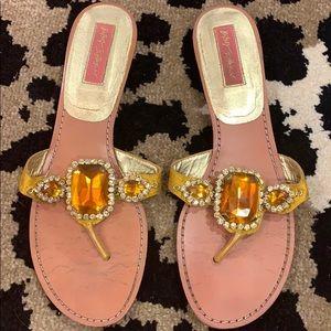 Betsey Johnson Gold Frey Sandal